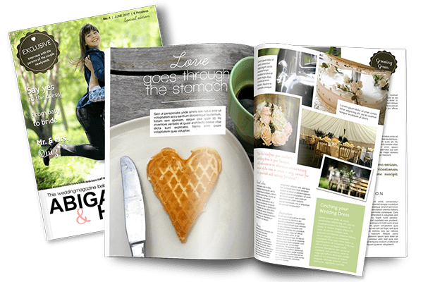 create a wedding gift magazine jilster
